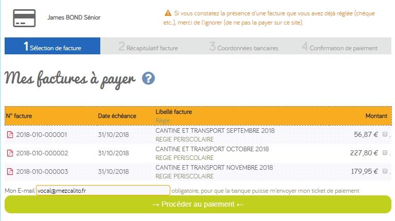 Solution de paiement de facture TIPI, TIPI REGIE, Systempay